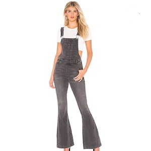 Free People Carly Flare Overalls In Black
